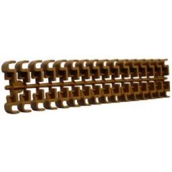 Plaque de 32 clips d'assemblage pour ruche plastique