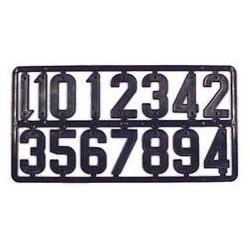 Plaque de chiffres plastique